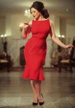 The Coco Trumpet Dress in Red