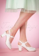 40s Betty Sandals in White